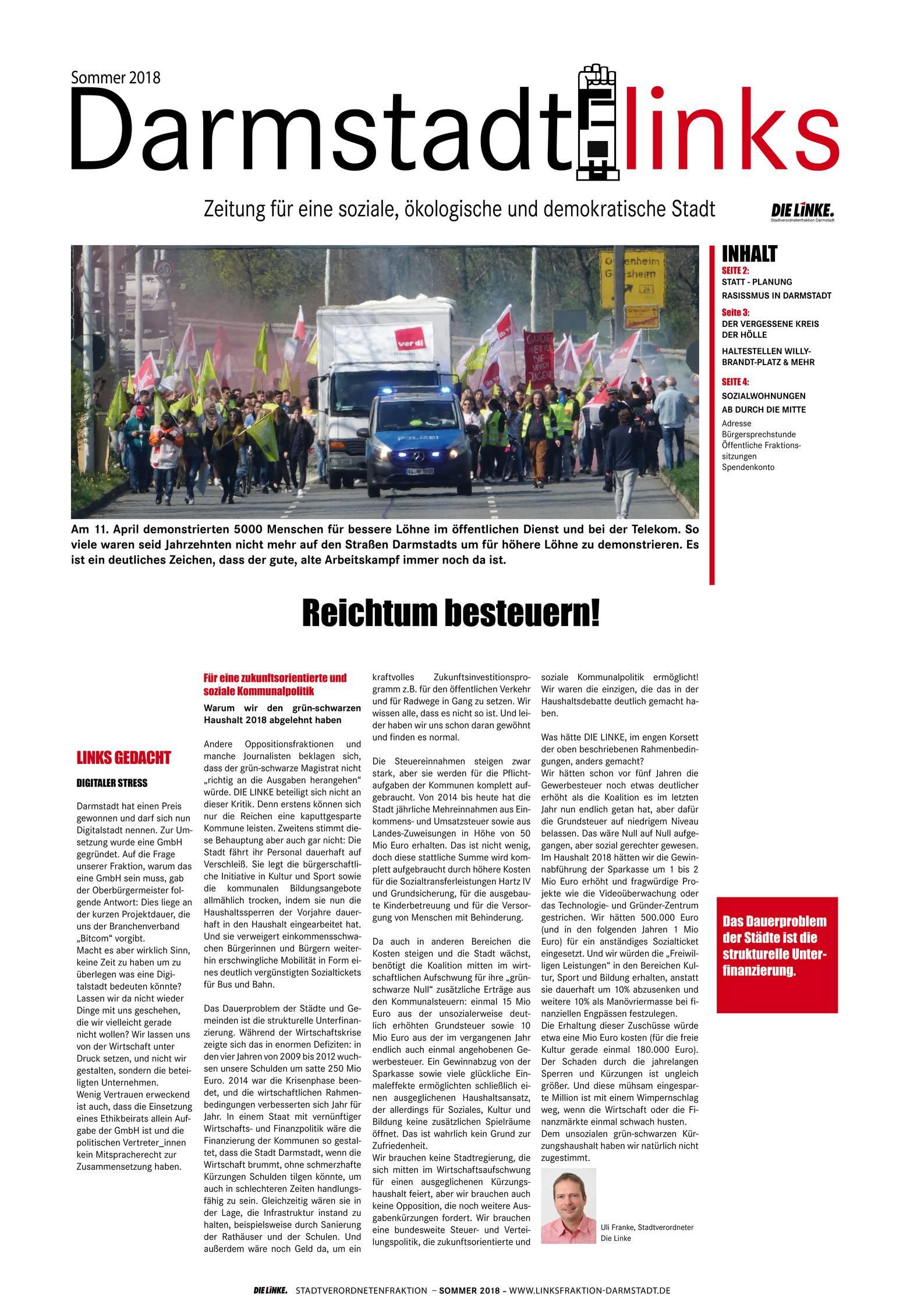 Startseite Die Linke Linksfraktion Darmstadt